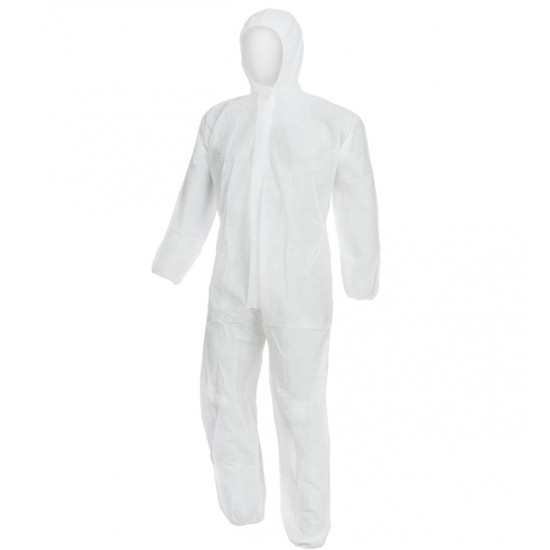 Στολή Ολόσωμη PP λευκή με κουκούλα 4500