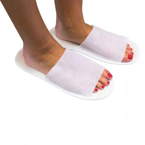 Παντόφλες PP λευκές, open toe 4822