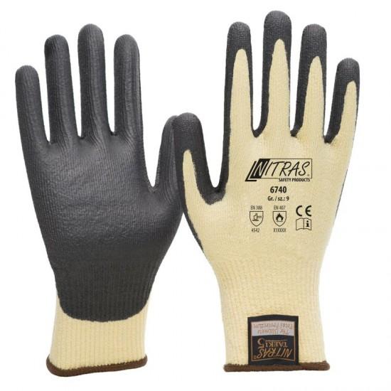 Γάντια προστασίας κοπής TAEKI PU BLACK COATING 6740