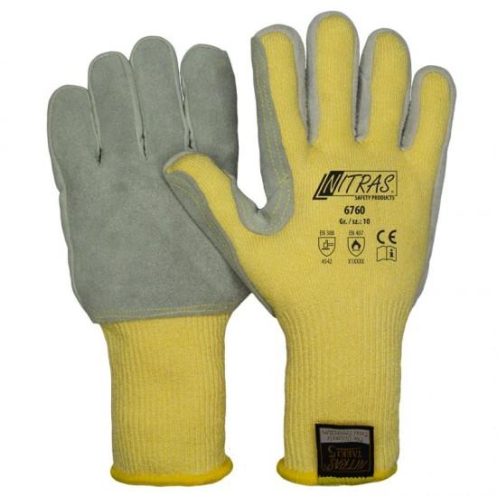 Γάντια προστασίας κοπής ΤΑΕΚΙ κίτρινα LEATHER PATCH 6760
