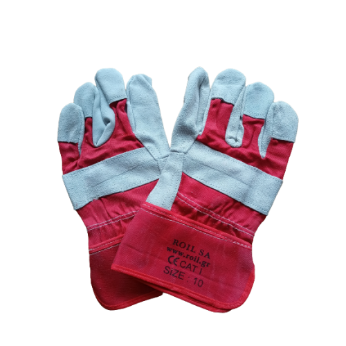 ΓΑΝΤΙΑ SPLIT LEATHER GLOVES RED