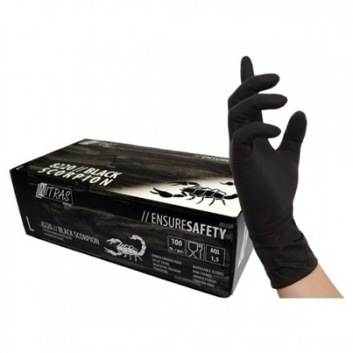 Γάντια λάτεξ BLACK SCORPION  8220