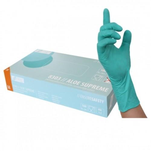 Γάντια νιτριλίου μιας χρήσης πράσινα ALOE SUPREME 8303