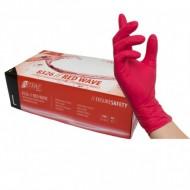 Γάντια νιτριλίου μιας χρήσης RED WAVE 8326