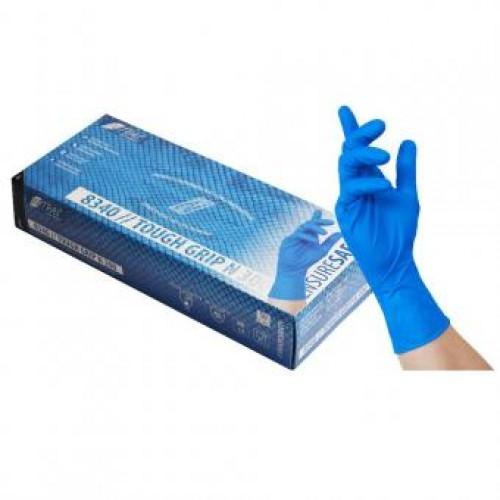 Γάντια νιτριλίου μπλε TOUGH GRIP N 300 8340