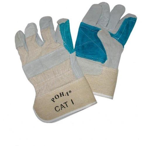 Γάντια δερμάτινα ενισχυμένη παλάμη πράσινα