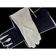 Γάντια δερματοπάνινα μακρυά