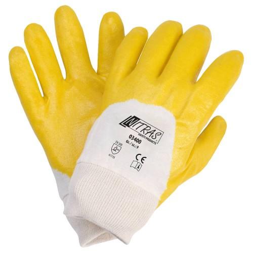 Γάντια νιτριλίου κίτρινα 3/4 03400