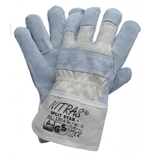 Γάντια Δερματοπάνινα SPLIT STAR + 1304