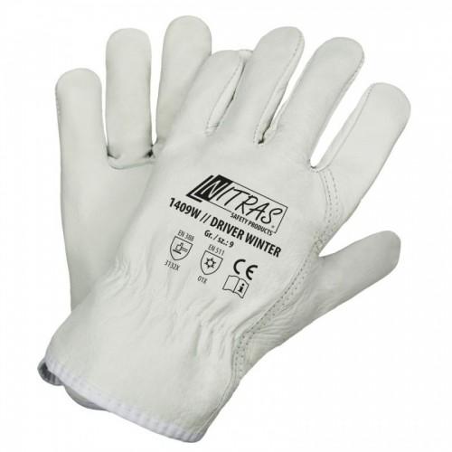 Γάντια προστασίας οδηγών δερμάτινα DRIVER WINTER 1409W