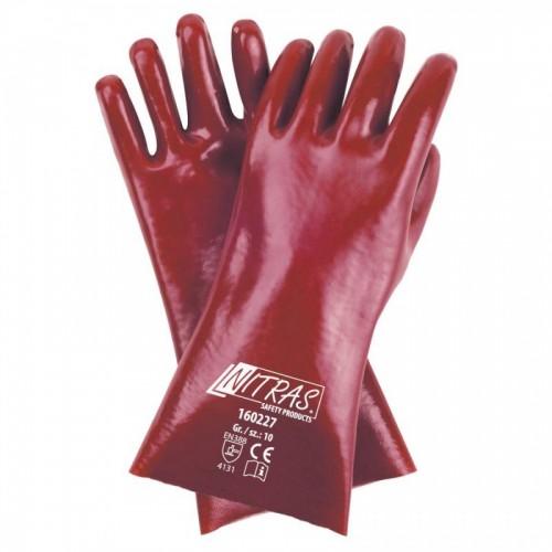 Γάντια PVC 27cm πλήρως επικαλυμμένα 160227