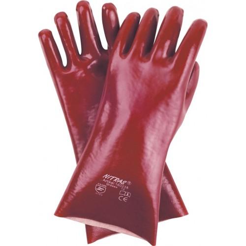 Γάντια PVC με επένδυση 2πλης εμβάπτισης 35cm 160235