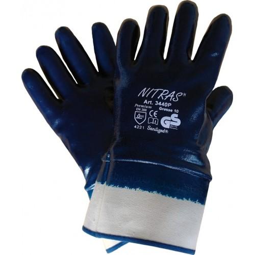 Γάντια νιτριλίου premium μπλε 3440P