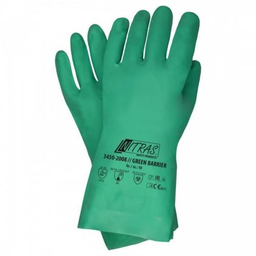 Γάντια προστασίας χημικών  νιτριλίου GREEN BARRIER 32cm 3450