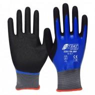 Γάντια προστασίας nylon γκρι με διπλή επένδυση OIL GRIP 3550