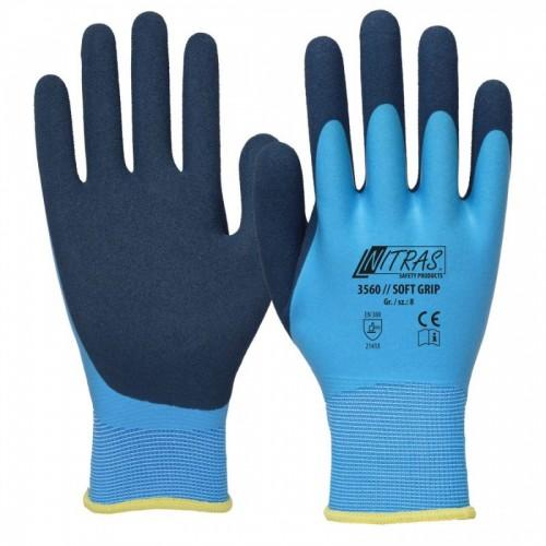 Γάντια προστασίας πολυέστερ με αφρό λάτεξ SOFT GRIP 3560
