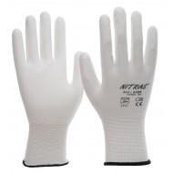 Γάντια νάυλον white pu coated 6200