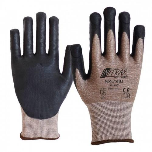 Γάντια προστασίας κοπής STEEL 6655
