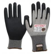 Γάντια πλεκτά taeki5 grey-black latex 6721 (Κοψίματος)