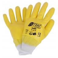 Γάντια νιτριλίου με πλήρη επένδυση,κίτρινα