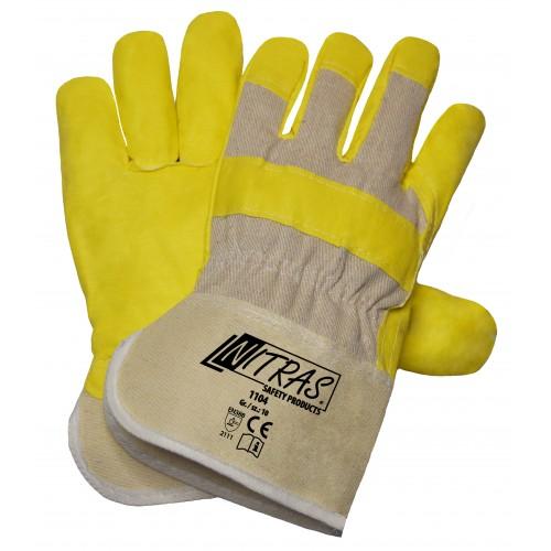 Γάντια εργατικά δερματοπάνινα UNIVERSAL 1104
