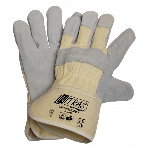 Γάντια δερματοπάνινα SPLIT STAR 1 1301C