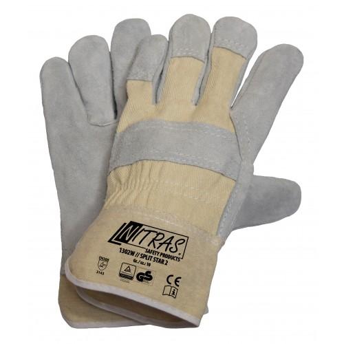 Γάντια δερματοπάνινα SPLIT STAR 2 1302W