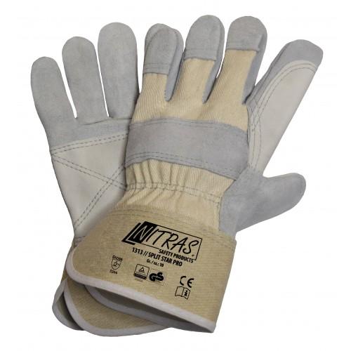 Γάντια δερματοπάνινα SPLIT STAR PRO 1313