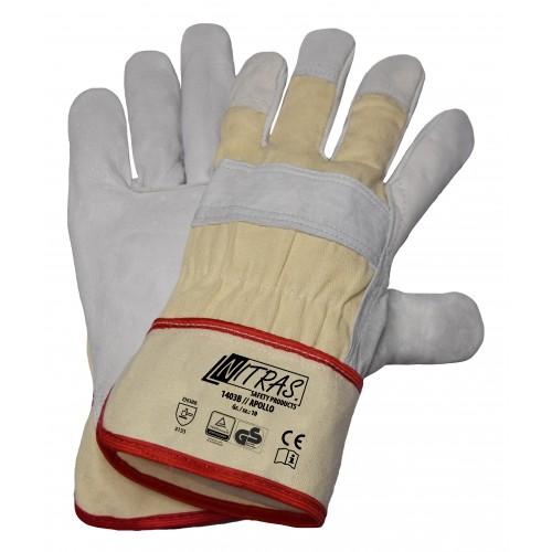 Γάντια Δερματοπάνινα APOLLO 1403B