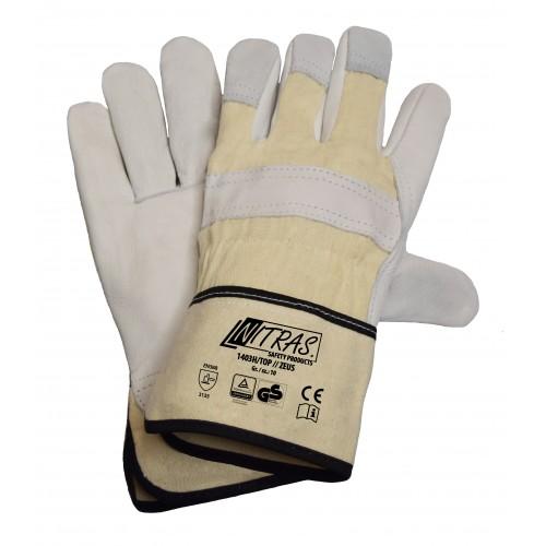 Γάντια δερματοπάνινα 1403H TOP / ZEUS