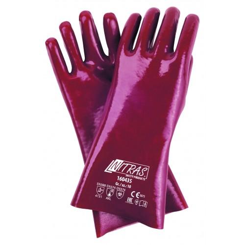 Γάντια PVC με επένδυση 2πλης εμβάπτισης 35cm 160435