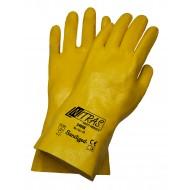 Γάντια νιτριλίου κίτρινα με πλήρη επένδυση 30cm 3406X
