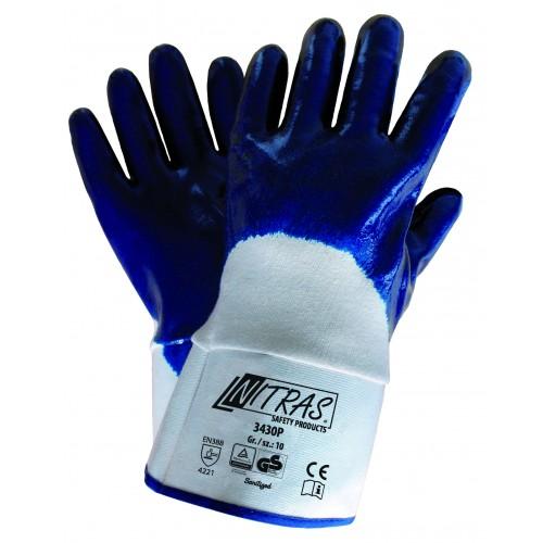 Γάντια νιτριλίου ενισχυμένα, υφασμάτινη μανσέτα 3/4 Premium