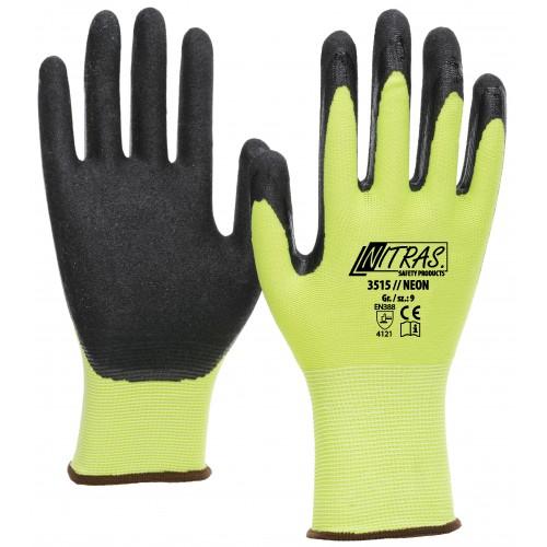 Γάντια ΝΕΟΝ πολυεστερικά, με επένδυση νιτρίλιο 3515