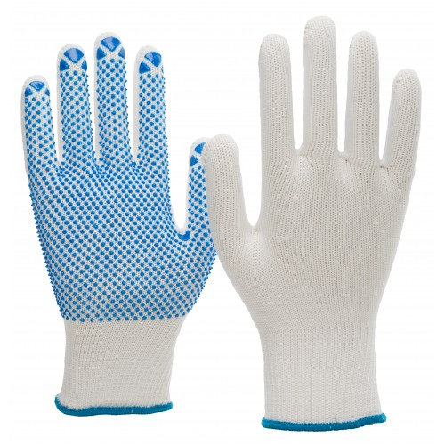 Γάντια πλεκτά nylon/cotton με κόκκους PVC 6100