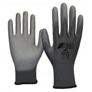 Γάντια nylon γκρι με επένδυση PU 6205