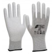 Γάντια αντιστατικά, γκρι με επένδυση PU 6230