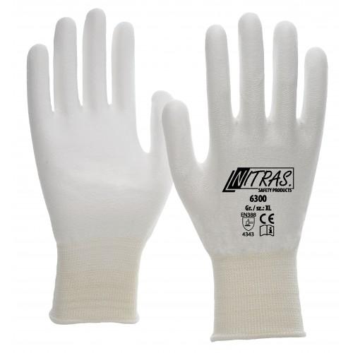 Γάντια προστασίας κοπής PU coating , λευκά 6300