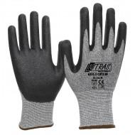 Γάντια προστασίας κοπής γκρι με επένδυση nitrile foam CUT3 NF PU 6355