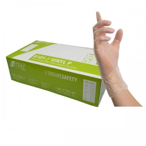 Γάντια βινυλίου μιας χρήσης  VINYL P βινυλίου 8101
