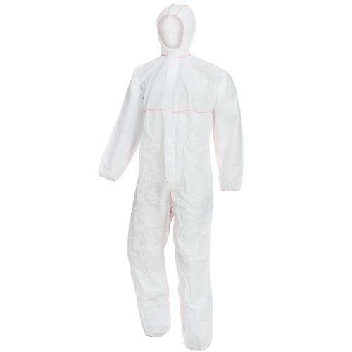 Ολόσωμη φόρμα εργασίας με κουκούλα λευκή NITRAS POLYSAFE BASIC II