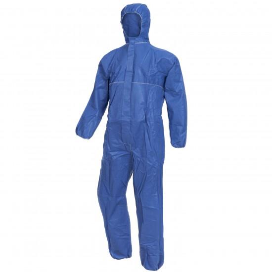 Ολόσωμη φόρμα εργασίας με κουκούλα μπλέ NITRAS POLYSAFE BASIC II